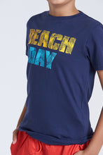 Load image into Gallery viewer, Navy Beach Day T-Shirt