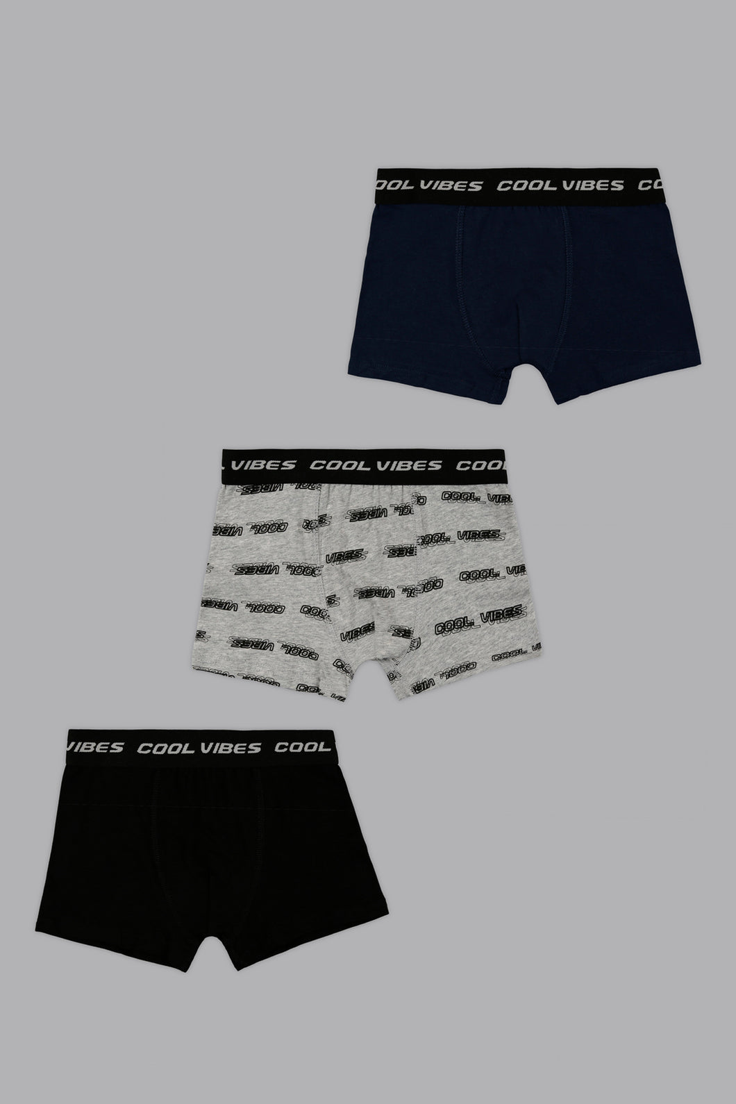 Grey/Black/Navy Cool Vibes Boxers (3-Pack)