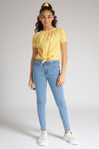 Yellow/White Stripe Blouse