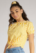 Load image into Gallery viewer, Yellow/White Stripe Blouse