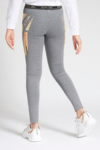 Load image into Gallery viewer, Grey Yoga Pant with Shiny Detail