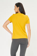 Load image into Gallery viewer, Mustard Think Of The Future Foil Print T-Shirt