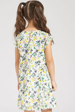 Load image into Gallery viewer, Yellow Floral Print Dress