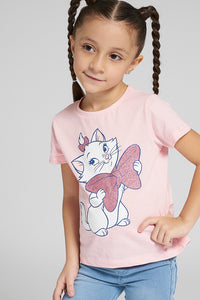 Pink Marie Graphic Print Tshirt