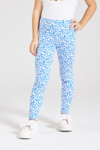 Blue Printed Legging