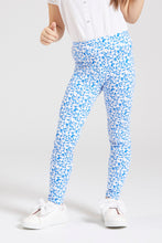 Load image into Gallery viewer, Blue Printed Legging