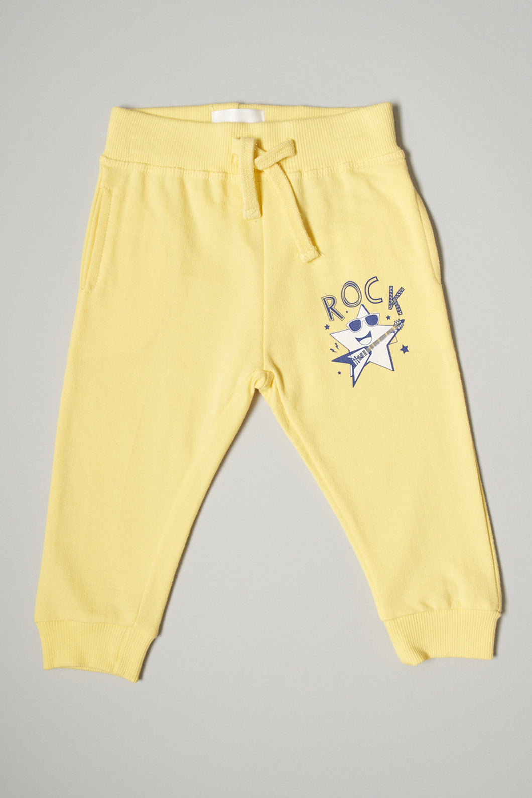 Yellow Rock Print Knit Track Pant