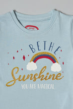 Load image into Gallery viewer, Blue Be The Sunshine Print T-Shirt