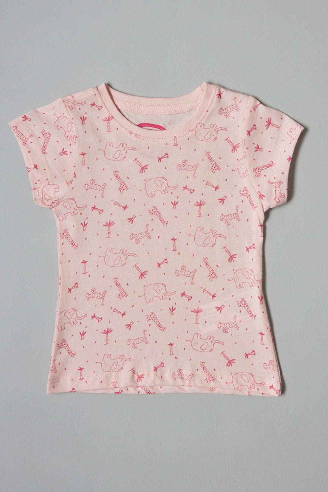 Pink Animal Printed T-Shirt