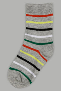 Assorted Striped Long Length Socks (4-Pack)