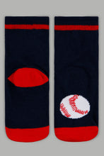 Load image into Gallery viewer, Assorted Sports Print Socks (4 Pack)