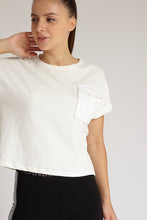Load image into Gallery viewer, Ivory Sateen Pocket T-Shirt
