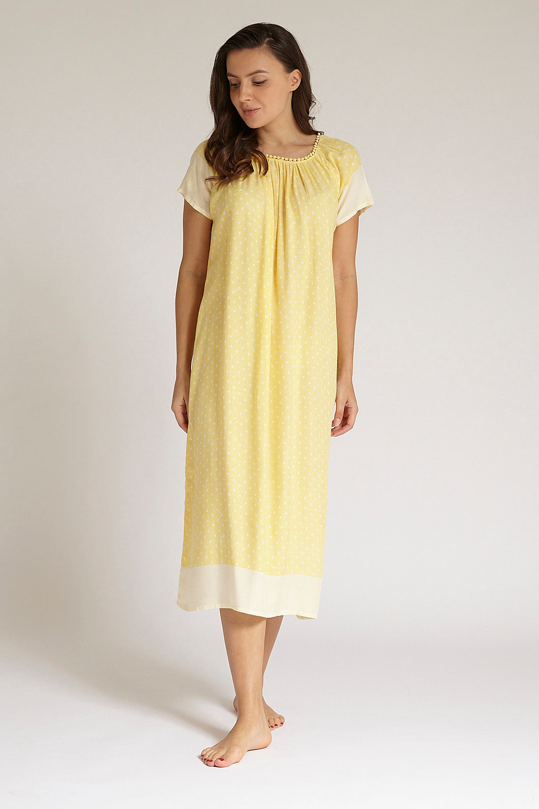 Yellow Allover Dobby Nightgown