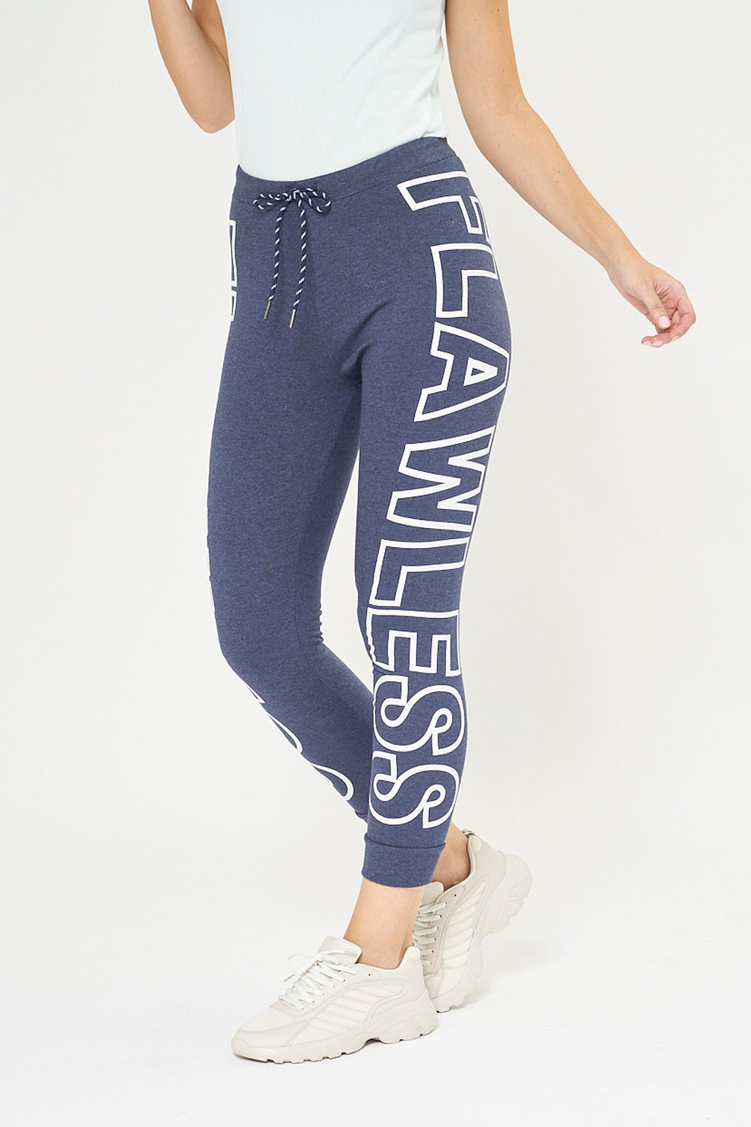 Blue Flawless Print Jogger