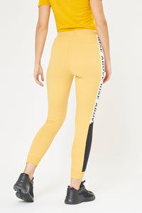 Yellow Jogger With Side Applique