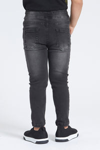 Grey Pull-On 5 Pocket Jean