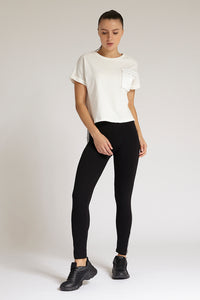Black Balance Side Print Legging