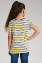 Load image into Gallery viewer, Yellow Multi Striped T-Shirts