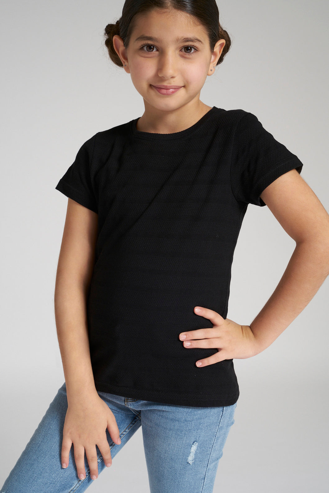 Black Jacquard T-Shirt