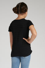 Load image into Gallery viewer, Black Jacquard T-Shirt