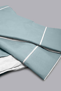 Teal/Ivory Reversible 3-Piece Duvet Cover Set (Double Size)