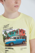 Load image into Gallery viewer, Yellow Just Chilling Print T-Shirt