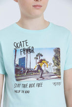 Load image into Gallery viewer, Green Skateboard Print T-Shirt
