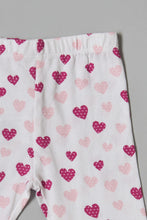 Load image into Gallery viewer, White Heart Print Legging