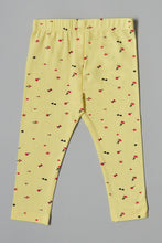 Load image into Gallery viewer, Yellow Bow Print Legging