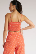 Load image into Gallery viewer, Peach Polka Dot Crop Top