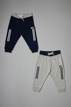 Load image into Gallery viewer, Grey And Navy Knit Track Pants (2-Pack)