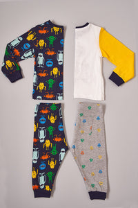 Assorted Little Monsters Print Pyjama Sets (2-Pack)