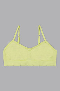 Coral/Neon Green Seamless Jacquard Bra (2-Pack)