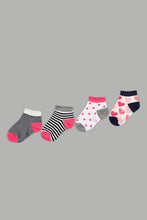 Load image into Gallery viewer, Assorted Printed Ankle Length Socks (4-Pack)