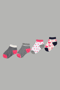 Assorted Printed Ankle Length Socks (4-Pack)