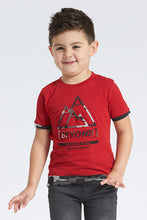 Load image into Gallery viewer, Red Beyond Embossed Print T-Shirt