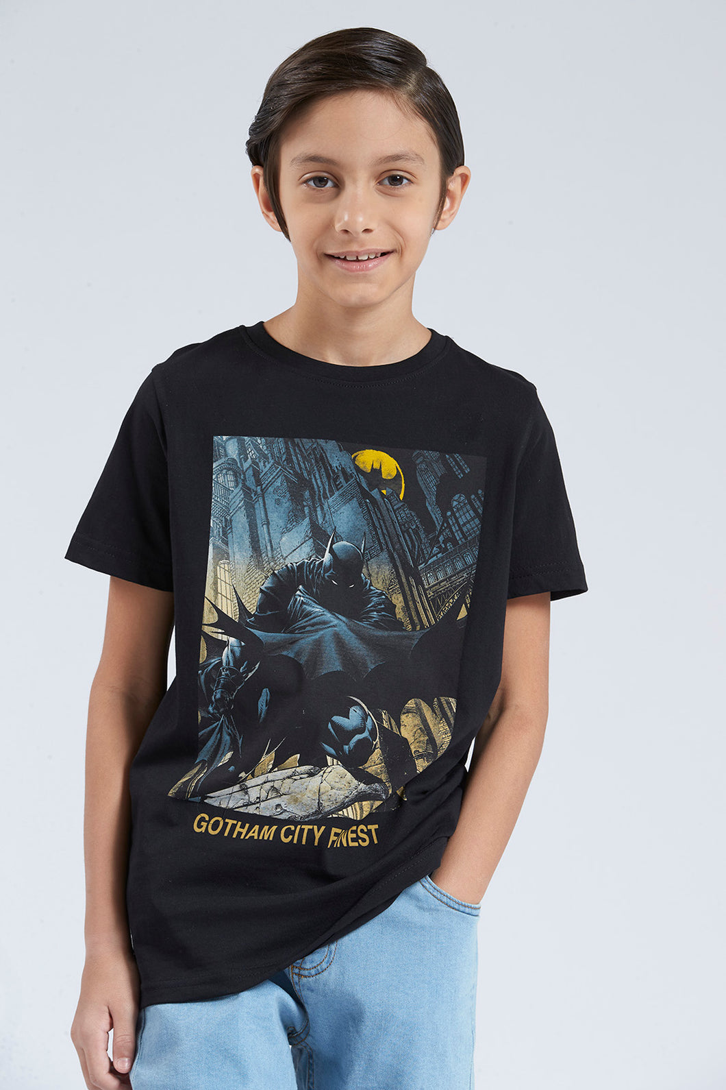Black Batman Logo T-Shirt
