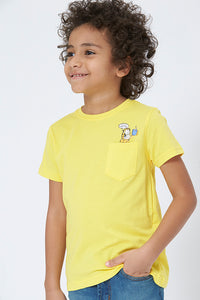 Yellow Garfield Character T-Shirt