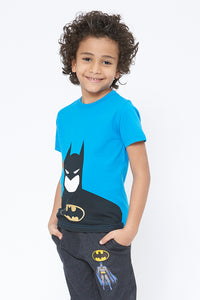 Blue Batman Character T-Shirt