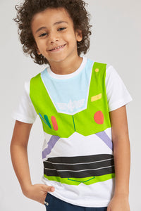 White Buzz Lightyear Character T-Shirt