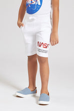 Load image into Gallery viewer, Blue Nasa Knit Pull On Short