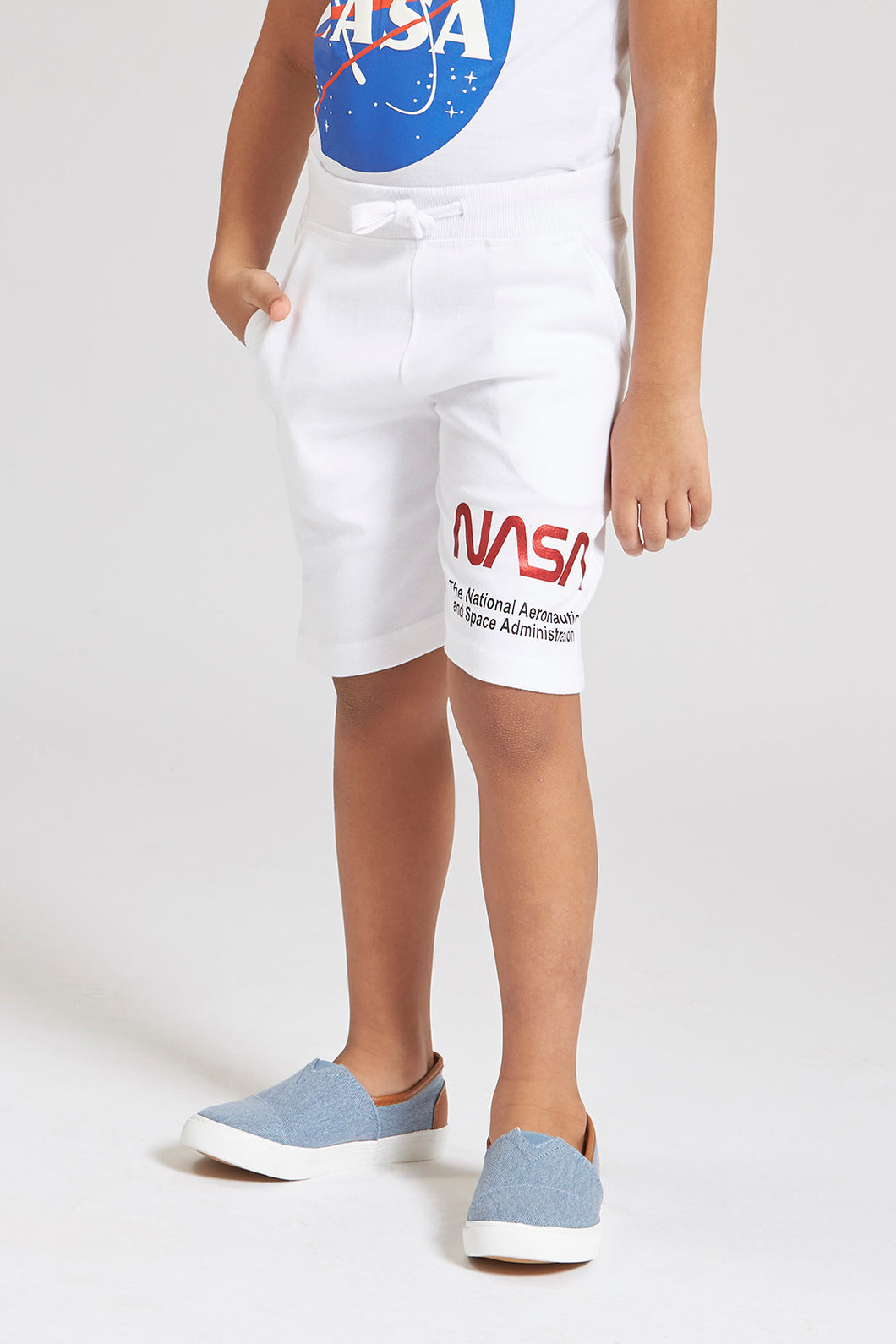 Blue Nasa Knit Pull On Short