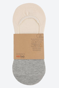 White/Beige/Grey Colour-Block Ankle Socks (3-Pack)