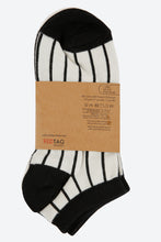 Load image into Gallery viewer, White/Black Jacquard Ankle Socks (3-Pack)