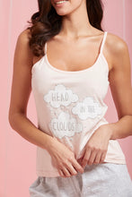 Load image into Gallery viewer, Peach Printed Cami And Shorts Set