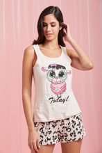 Load image into Gallery viewer, Pale Pink Printed Cami And Shorts Set