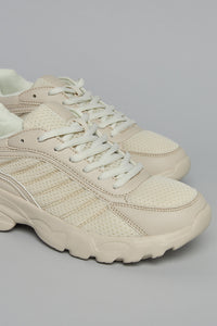 Beige Classic Lace up Sneaker