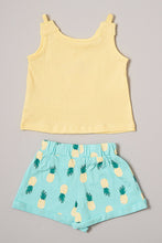 Load image into Gallery viewer, Yellow and Blue Pineapple Short Set
