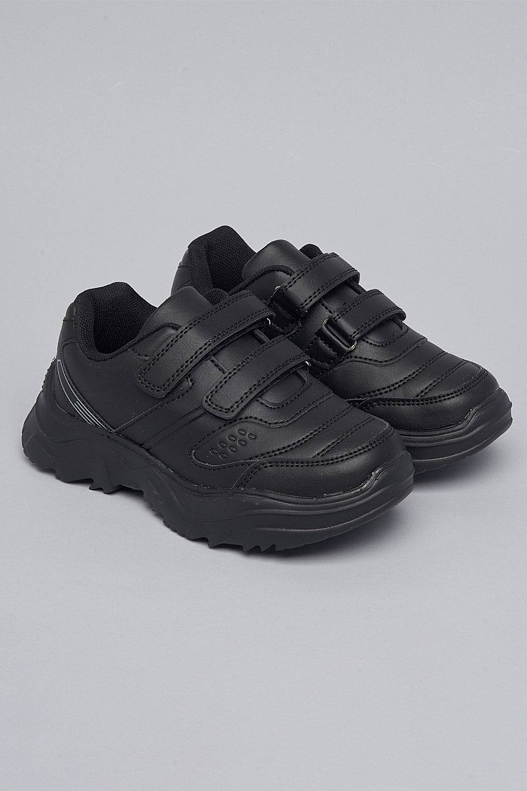 Black Layered Chunky Sneaker