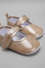 Load image into Gallery viewer, Gold Pram Shoe